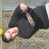 WARREN DILLAWAY / Star Beacon<br /> JULIAN ECHEVERRIA of Ashtabula works on his hitting at Cederquist Park in Ashtabula on Saturday afternoon.
