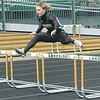 WARREN DILLAWAY / Star Beacon<br /> TORI COX of Lakeside runs the 300 meter hurdles on Saturday during the Icebreaker Invitational at Lakeside.