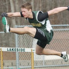 WARREN DILLAWAY / Star Beacon<br /> TONY BAILEY, of Lakeside, runs the 110 meter hurdles on Saturday during the Icebreaker Invitational at Lakeside.