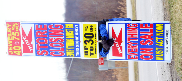 WARREN DILLAWAY / Star Beacon<br /> THE CONNEAUT Kmart is conducting a going out of business sale at the store located south of town on Route 7.