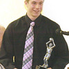 WARREN DILLAWAY / Star Beacon<br /> ANDREW KONCZAL of Edgewood, was named co-player of the year by the Ashtabula County Basketball Foundation on Sunday during the organization's annual awards dinner in Conneaut.