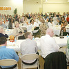 WARREN DILLAWAY / Star Beacon<br /> SEVERAL HUNDRED people attend the Ashtabula County Basketball Foundation Awards Dinner on Sunday in Conneaut.