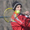 WARREN DILLAWAY / Star Beacon<br /> LOUIS MURPHY of Geneva returns a shot during a home third singles match against Willoughby South on Tuesday.