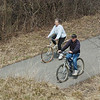 WARREN DILLAWAY / Star Beacon<br /> BICYCLISTS RIDE on the Greenway Reserve Trail near the Austinburg Road intersection on Monday afternoon in Saybrook Township.