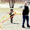 WARREN DILLAWAY / Star Beacon<br /> JIM HAMRICH and his son Joshua, 6, of Cortland, fly a kite at Conneaut Township Park.