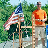 WARREN DILLAWAY / Star Beacon<br /> CHRIS CHMIELEWSKI, a local organizer of a national remote control car competition this weekend along Dibble Road in Kingsville Township, takes time to race on Saturday. Competition continues today aaaaat 5010 Dibble Road.