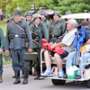 WARREN DILLAWAY / Star Beacon<br /> WORLD WAR II  re-enactors prepare for battle on Saturday during D-Day Conneaut at Conneaut Township Park.