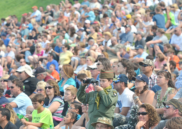 WARREN DILLAWAY / Star Beacon<br /> THOUSANDS OF visitors prepare to watch D-Day Conneaut on Saturday at Conneaut Township Park.