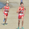 WARREN DILLAWAY / Star Beacon<br /> CHRIS LEMAY (3) and his twin Josh lead the War on the Shore on Monday at Lake Shore Park in Ashtabula Township.