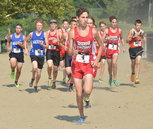 WARREN DILLAWAY / Star Beacon<br /> JOSH LEMAY of Edgewood leads the early stages of the War on the Shore on Monday at Lake Shore Park in Ashtabula Township.