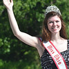 WARREN DILLAWAY / Star Beacon<br /> ALAYNA WEGER, Miss Ohio from the National American Miss Ohio pageant and a resident of North Kingsville,  waves to the crowd during the centennial parade on Saturday.