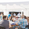 WARREN DILLAWAY / Star Beacon<br /> TENTS SHADED visitors on Saturday during the Wine and Walleye Festival in Ashtabula Harbor.