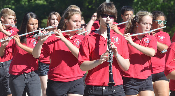 WARREN DILLAWAY / Star Beacon<br /> THE EDGEWOOD High School band kicks off the North Kingsville Centennial celebration on Saturday morning. The parade was just one of many activities celebrating the village's 100th year of existence.