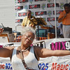 WARREN DILLAWAY / Star Beacon<br /> GWEN LOGAN of Richmond Heights dances to the music of Good Question on Sunday during the Wine and Walleye Festival in Ashtabula Harbor.