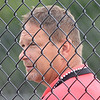 WARREN DILLAWAY / Star Beacon<br /> LOU MURPHY, Jefferson girls teacher, watches the action on Tuesday during a home tennis match with Lakeside.