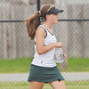 WARREN DILLAWAY / Star Beacon<br /> KAYLA JOHNSTON of Lakeside grabs a water during a break in the action of a second singles match at Jefferson.