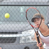 WARREN DILLAWAY / Star Beacon<br /> KATIE ALLAN of Lakeside returns a shot during a first singles match at Jefferson on Tuesday afternoon.