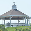 WARREN DILLAWAY / Star Beacon<br /> A MAN relaxes in the Conneaut Township Park Gazebo early Thursday afternoon.