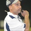 WARREN DILLAWAY / Star Beacon<br /> JOHN GLAVICKAS, Grand Valley football coach, watches the action on Friday during a home game with Conneaut.