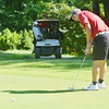 WARREN DILLAWAY / Star Beacon<br /> RYAN NAPPI of Geneva putts on Tuesday during the Karl Pearson Invitational at Maple Ridge Golf Course in Saybrook Township .