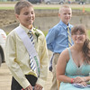 WARREN DILLAWAY / Star Beacon<br /> AUSTIN GRUSKIEWICZ, 13, of Kinsman was all smiles after he was named Ashtabula County Fair Prince on Tuesday night at the fairgrounds in Jefferson.
