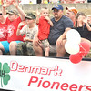 WARREN DILLAWAY / Star Beacon<br /> THE DENMARK Pioneers participate in the Ashtabula County Fair parade on Tuesday evening at the fairgrounds in Jefferson.
