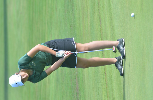 WARREN DILLAWAY / Star Beacon<br /> TONI STRANMAN of Lakeside follows a putt on Tuesday during the Karl Pearson Invitational at Maple Ridge Golf Course in Saybrook Township .
