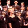 WARREN DILLAWAY / Star Beacon<br /> ANDREA TREDENT, director of the Lakeside High School Concert Choir, prepares to lead her choir during the Winter Matinee Concet Friday afternoon at the high school.
