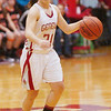 WARREN DILLAWAY / Star Beacon<br /> BECKY DEPP of Geneva dribbles up court Saturday during a home game with Eastlake North.