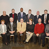 WARREN DILLAWAY / Star Beacon<br /> THE ASHTABULA County Football Hall of Fame 2013 Inductees and representatives include (from left front row) Shirley Jepson representing hr husband Dennis Jepson of Ashtabula High School; Patrick McNamara, Ashtabula High School; Dick Showalter representing his son Gregory Showalter, Conneaut High School; Shelley Marcy-Warren representing her brother Scott Marcy, Conneaut High School; Rich Spangler and Tony Hassett, both of Geneva High School. (From left standing) Ed Jones and Marvin Kuula, both of Harbor High School; David Huey, Edgewood High School; Matthew Hatchette, Jefferson High School; David Nye, Grand Valley High School; David Dick of Pymatuning Valley High School; Doug Rebera representing his father Don Rebera, St. John High School and Ken Parise, contributor.