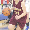 WARREN DILLAWAY / Star Beacon<br /> GEENA GABRIEL of Pymatuning Valley leads a fast break on Thursday evening in Orwell.