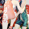 WARREN DILLAWAY / Star Beacon<br /> KYLER MCENDREE (right) of Lakeside wrestles Connor Requa of Geneva during a 113 pound bout at Geneva on Thursday night.