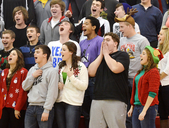 SENIORS SING Jingle Bells at the top of their lungs during Reindeer Games at Jefferson High School.