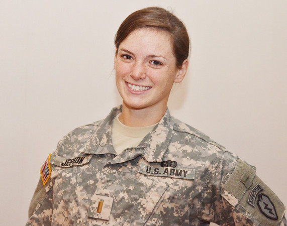 WARREN DILLAWAY / Star Beacon<br /> CAITLYN JEPSON, a 2009 graduate of Lakeside High School, completed a four year ROTC program and graduated from John Carroll University as an officer in the U.S. Army. She is leaving this week for Alaska where she will work in the health administrative field.