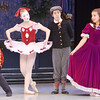 WARREN DILLAWAY / Star Beacon<br /> ELIZABETH REIDDELL, the soldier doll, (left) and Victoria Znidarsic, the Columbine doll,  (second from left) Alex Smallwood, Fritz, (third from left) and Miranda DiFranco, Clara, prepare for the Nutcracker at the Ashtabula Arts Center.
