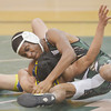 WARREN DILLAWAY / Star Beacon<br /> ASA WILLIAMS (top) of Lakeside goes for the pin during a 126 pound bout with Ebrahim Lbagory of Euclid on Tuesday evening at Lakeside.