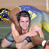 WARREN DILLAWAY / Star Beacon<br /> ALEXANDER OWENS (facing) of Lakside wrestles Andre Bridgit of Euclid on Tuesday night at Lakeside during a 182 pound bout.