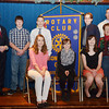 WARREN DILLAWAY / Star Beacon<br /> THE SIX My Day in Court Essay Contest winners, all eighth graders, were honored on Tuesday during a Rotary Club luncheon at the Conneaut Arts Center. (From left seated) Taylor Moisio, McKenna Gebhardt and Tully Taylor. (From left standing) Conneaut Municipal Court Judge Thomas Harris, Bradley Tisdale, Nathan Eaton, Hunter Tuuri, Joe Taylor, Conneaut Middle School principal Joel Taylor and Glenda Lowe, president of the CRC.