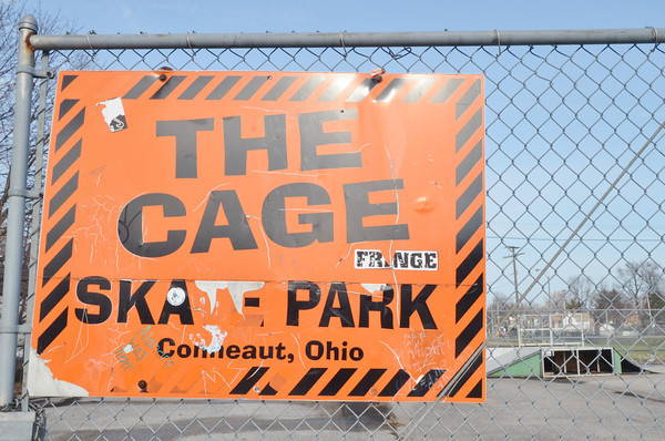 WARREN DILLAWAY / Star Beacon<br /> THE GAGE Skate Park is locked tight and may not open again.