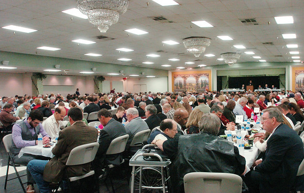 WARREN DILLAWAY / Star Beacon<br /> HUNDREDS ATTENDED the Ashtabula County Touchdown Club Banquet Monday evening at Mount Carmel Community Center.