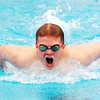 WARREN DILLAWAY / Star Beacon<br /> ETHAN BEITEL of Lakeside competes in the Boys 100 Yard Butterfly on Saturday at Spire Institute in Harpersfield Township.