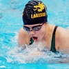 WARREN DILLAWAY / Star Beacon<br /> EMILY GEHRING of Lakeside competes in the 100 yard Breastroke on Saturday during the Ashtabula County Invitational at Spire Institute in Harpersfield Township.