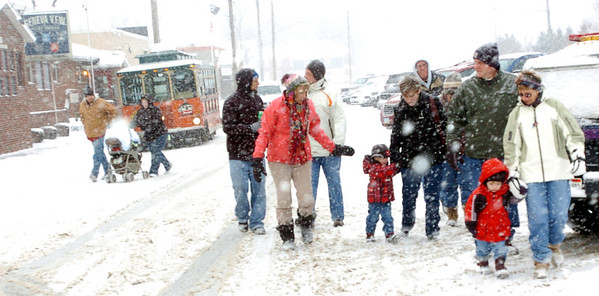 WARREN DILLAWAY / Star Beacon<br /> VISITORS TO the Winterfest in Geneva Saturday were greeted with some real winter weather.