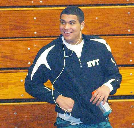 WARREN DILLAWAY / Star Beacon<br /> CHUCK MORGAN of Lakeside was all smiles Saturday on his way to winning the 285 pound PAC wrestling meet at Madison.
