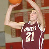 WARREN DILLAWAY / Star Beacon<br /> QUINTIN RATLIFF of Pymatuning Valley shoots on Tuesday night during a game at Geneva.