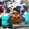 WARREN DILLAWAY / Star Beacon<br /> POLAR BEAR plungers document their participation in the event with cell phones on Saturday afternoon at Geneva State Park.