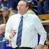 WARREN DILLAWAY / Star Beacon<br /> TIM TALLBACKA, Conneaut boys basketball coach, reacts to a play on Friday night during a home game with Brookfield.