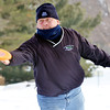 WARREN DILLAWAY / Star Beacon<br /> MICHAEL MOTE of Madison follows through on a shot during the Ashtabula Ice Bowl disc golf tournament at Lake Shore Park in Ashtabula Township on Saturday.