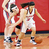 WARREN DILLAWAY / Star Beacon<br /> JESSICA BECKER (3) of Jefferson battles for the ball with Cortney Humphrey of Edgewood on Saturday at Jefferson.