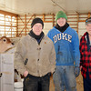 WARREN DILLAWAY / Star Beacon<br /> THE RING family has been operating a Pierpont Township dairy farm for 54 years. Loren Ring (right) is now retired but lives on the property and helps his son Jeff and grandson Justin.